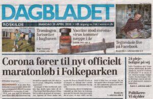 Dagbladet 20-04-2020 forsiden